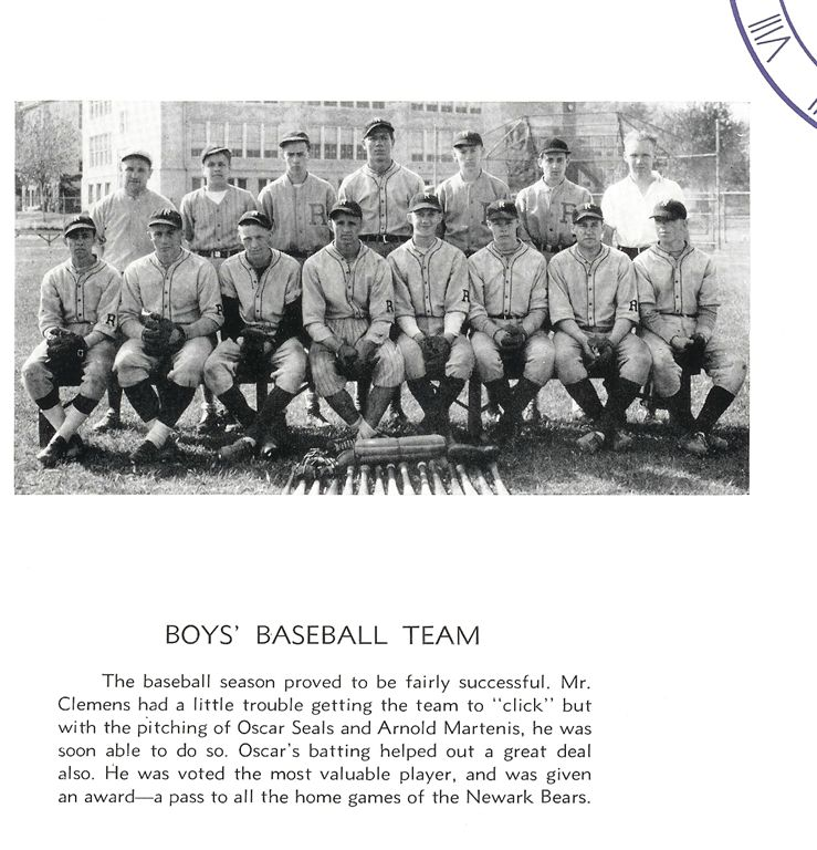 1936 Baseball Team, Roxbury High School, New Jersey