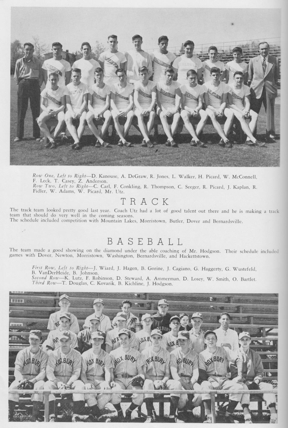 1950 Roxbury High School Succasunna New Jersey Nj Yearbook