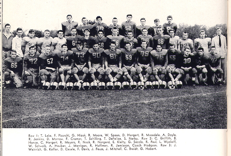 1955 Roxbury NJ Football Team
